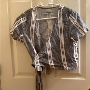 Urban Outfitters Wrap style crop shirt